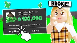SPENDING OVER 100,000 ROBUX ON BLOXBURG! (Roblox)