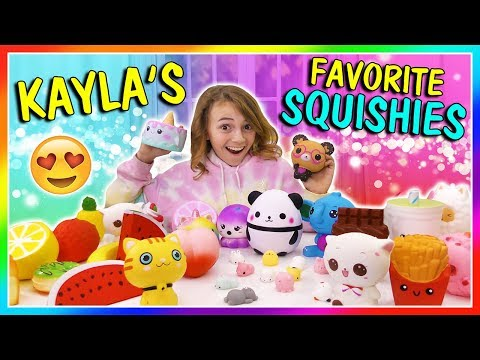 KAYLA'S FAVORITE SQUISHIES | We Are The Davises