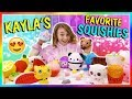 KAYLA'S FAVORITE SQUISHIES | We Are The Davises