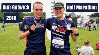 Run Gatwick Half Marathon 2018   Race VLOG   Here We Are Running
