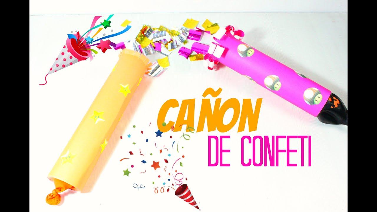 Como hacer un ca on de confeti casero diy ideas para for Como hacer confeti