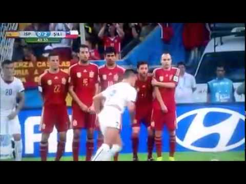 Spain 0-2 Chile All Goals World Cup 2014