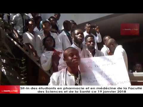 Mouvement d'humeur des étudiants de la Faculté des Sciences et de la Santé de l'Université de Lomé
