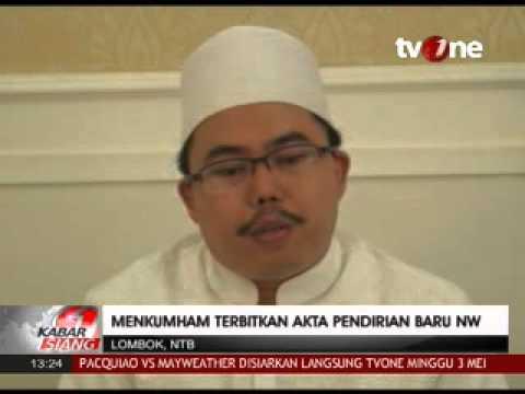 Dualisme Nahdlatul Wathan - Menkumham Digugat Ke PTUN karena Menerbitkan surat Pengesahan