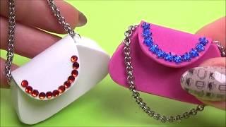 Diy miniature purse for doll │ Miniature doll bag tutorial │ Easy doll purse diy