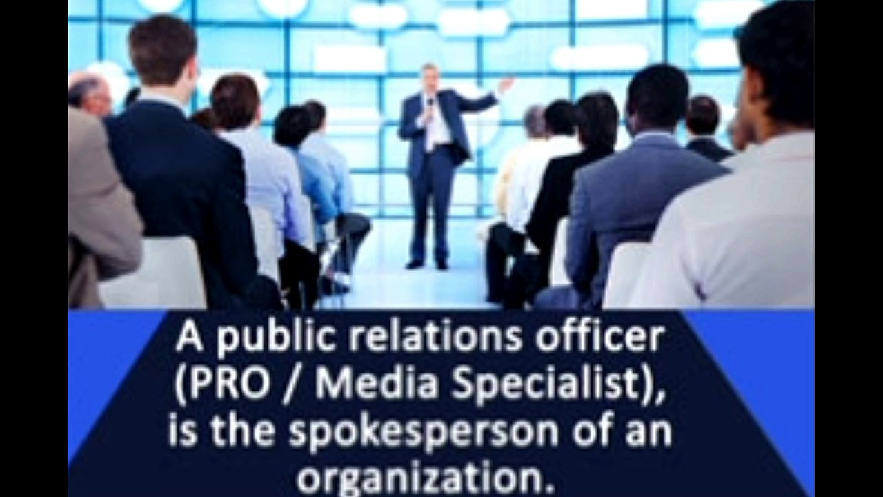 This is the Exact Job Description of a Public Relations Officer ...