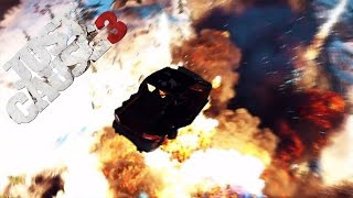 Attempting Falco Maxime Car Race while getting Nuked! - Just Cause 3 Challenge