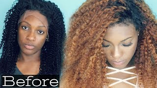 Watch the Slay! No Leave Out, No Got2b Gel, No Glue 180% Curly Lace Front Wig | Dyhair777