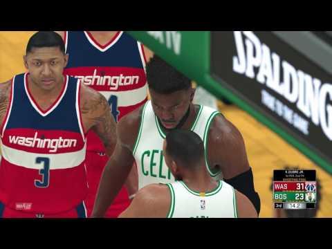 NBA 2K17 - Washington Wizards vs Boston Celtics - Playoff Simulation R2 ( Best of 3 Games)