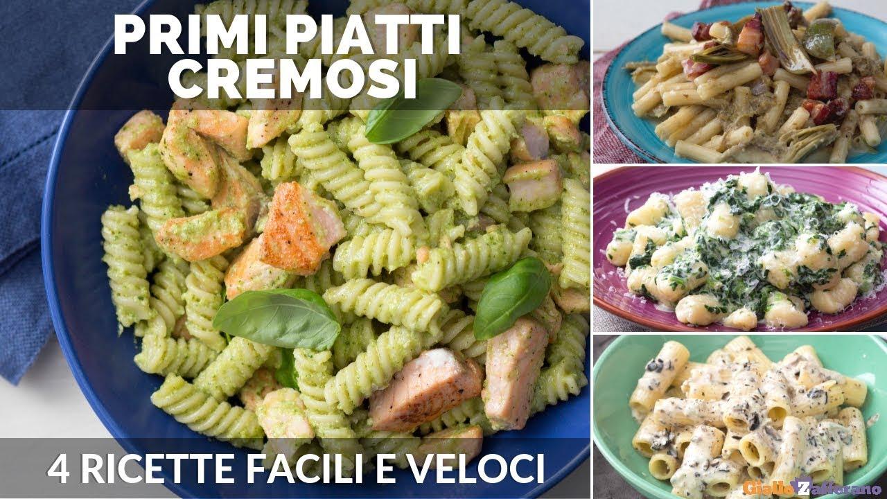 Primi piatti cremosi 4 ricette facili e veloci youtube for Primi piatti semplici