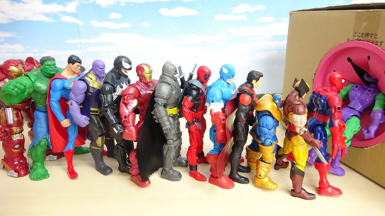 Download Marvel Super Heroes Spider Man, Iron Man, Captain America walk into Box Meet Hippopotamus