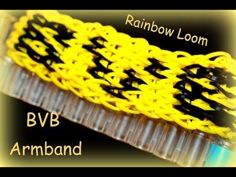 Rainbow Loom BVB Armband, 1. Bundesliga Fussball, Loom Bands, Loom Bandz