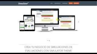 Sistema para cursos online y simulación de exámenes tipo test online