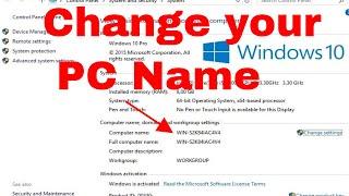 How To Change Computer Name Windows 10