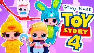 🌟 TOY STORY 4 New CHARACTERS with CUSTOM LOL SURPRISE DOLLS 👢🚀 DIY Toys Transformations