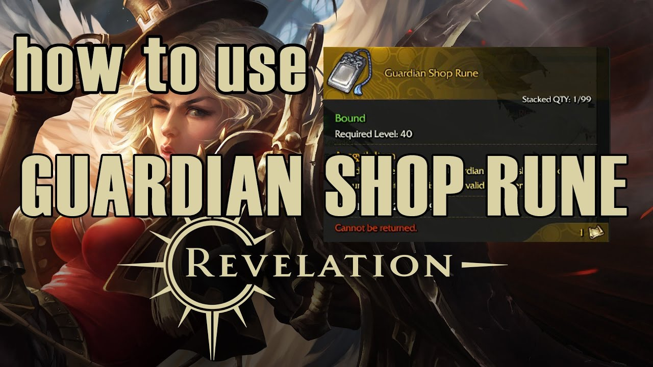revelation online how to use guardian shop rune youtube. Black Bedroom Furniture Sets. Home Design Ideas