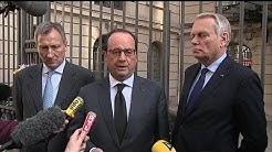 François Hollande à l'ambassade de Belgique en signe de solidarité