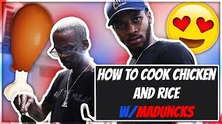 HOW TO COOK CHICKEN & RICE WITH MULARJUICE & MADUNCKS