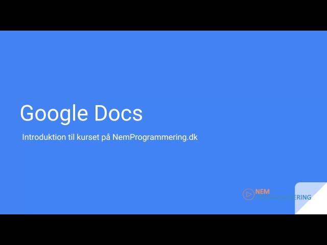 Google Docs kursus