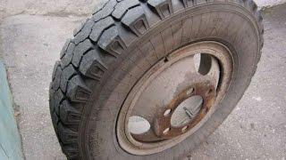Как быстро разобрать колесо автомобиля ЗИЛ, ГАЗ