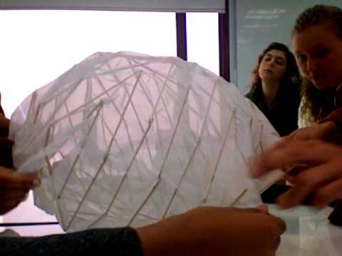collapsible fabric sphere