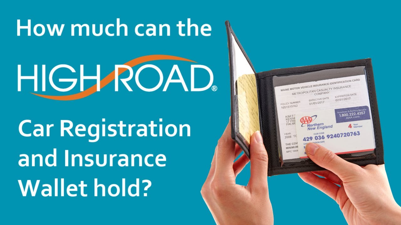 High Road Car Registration And Insurance Card Holder Youtube
