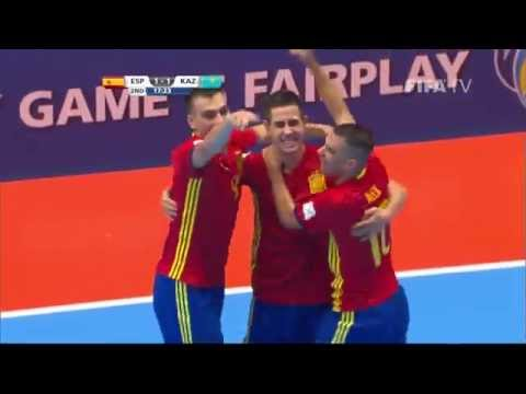 Match 40: Spain v Kazakhstan - FIFA Futsal World Cup 2016