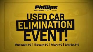 Phillips Chevrolet – Used Car Elimination Event - Chicago New Car Dealership