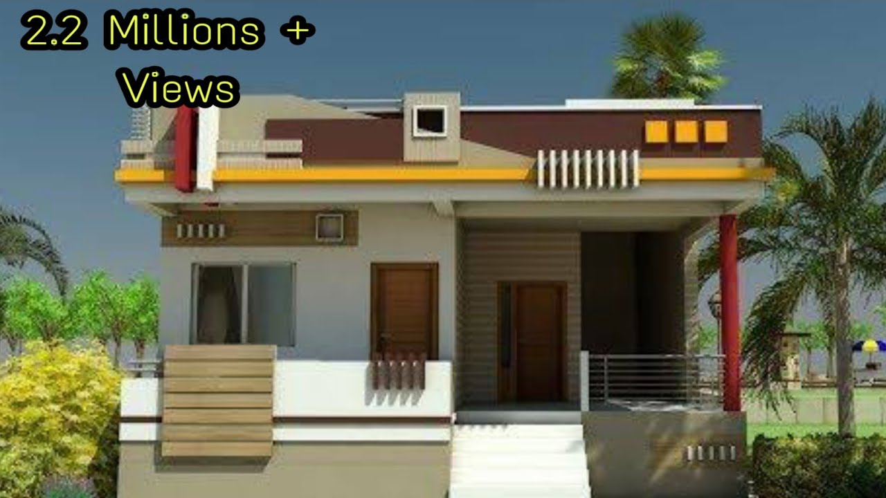 Modern Single Floor House Design 3d