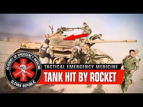 Tank hit by