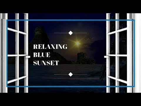 Relaxing Sunset Blue Ocean Waves Sleep Sounds Nature #Asmr