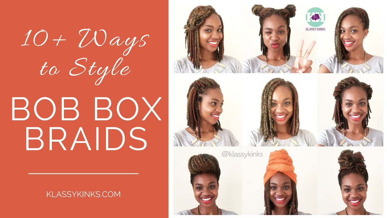 Tutorial | How to Style Bob Box Braids (10+ Ways!) - YouTube