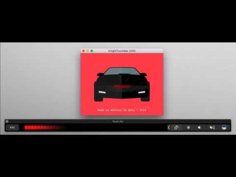 KnightTouchBar 2000 - Bring the KITT 2000 animation to your Macbook Pro TouchBar!