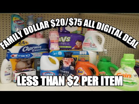 FAMILY DOLLAR $20/$75 ALL DIGITAL DEALS