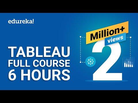 Tableau Full Course - Learn Tableau In 6 Hours | Tableau Training For Beginners | Edureka
