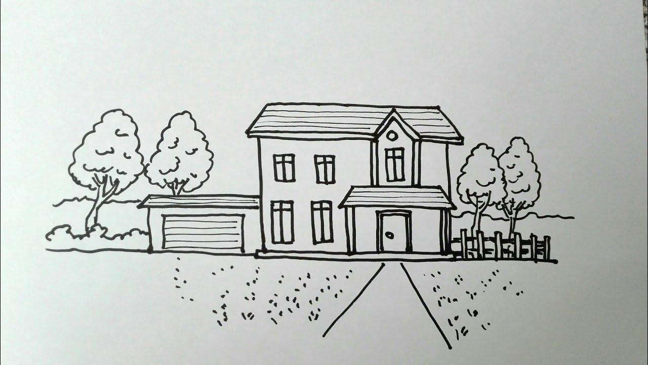 วาดรูป บ้านง่ายๆ สวยๆ My Home   How to draw a House,easy