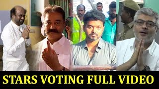 RAJINI KAMAL AJITH VIJAY cast their Vote Election 2019 | Actors Voting #Ajith #Vijay #Rajini #Kamal