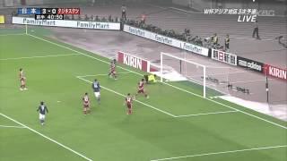 [サッカー] 日本代表 8x0 タジキスタン代表 ハイライト 2011-10