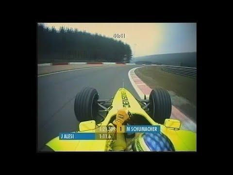 Jean Alesi - Jordan-Honda EJ11 - Spa-Francorchamps 2001, FP1