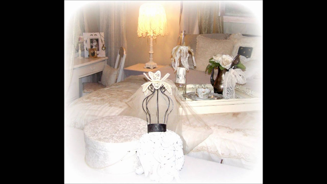 wonderful romantic shabby chic bedroom | Olivia's Romantic Home Shabby Chic Bedroom - YouTube