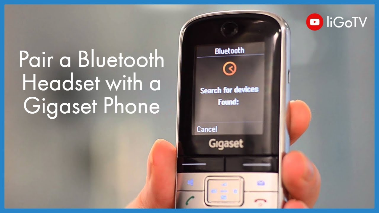 How To Pair A Bluetooth Headset With A Gigaset Phone Youtube