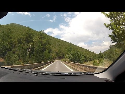 Driving to Orthodox Monastery of Kaltezes, Arcadia, Greece (mountain road driving) – onboard camera