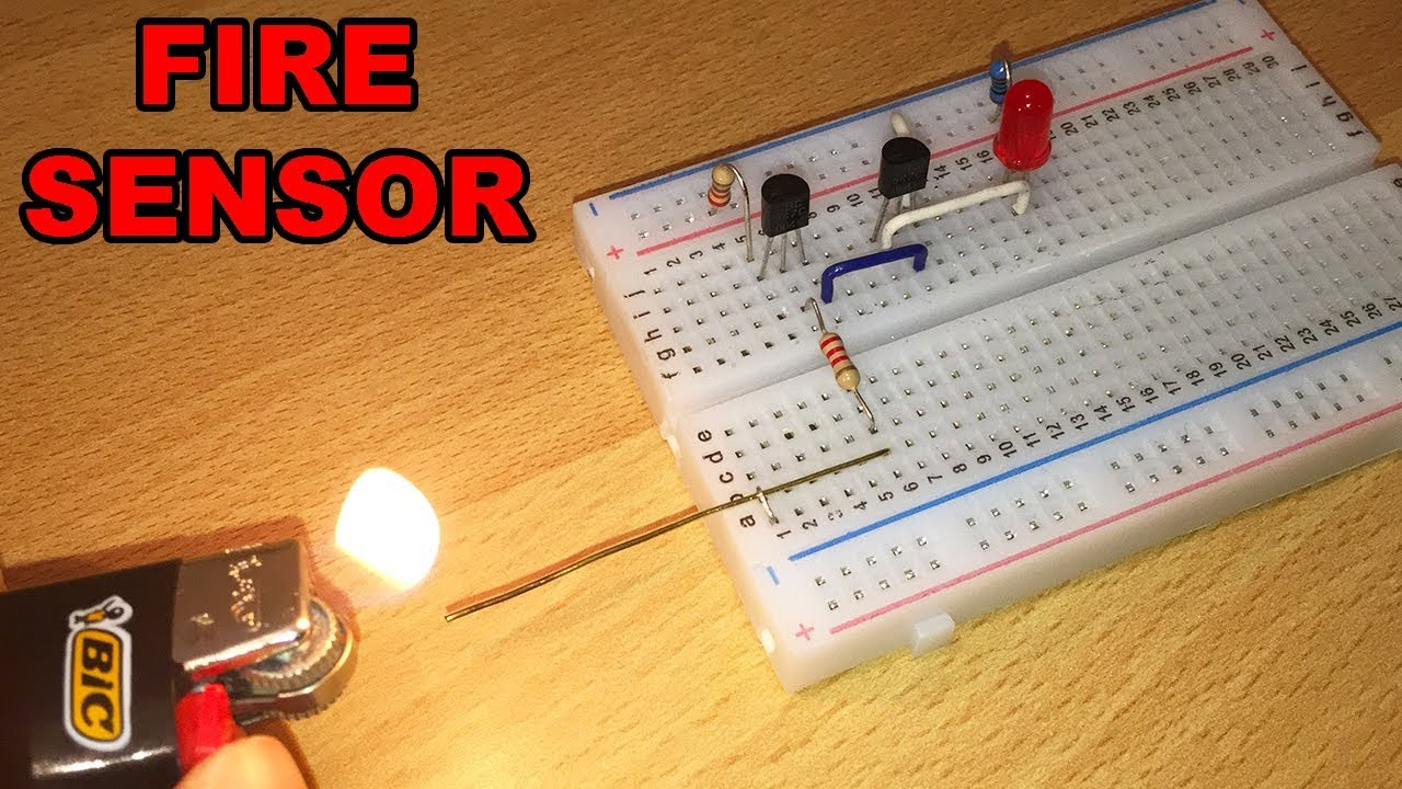Fire Sensor Diy With Bc547 Transistors Electric Diagram In Video Transistor Latch Circuit Explained Electronic Projects By Ste Electronics Stefano91ste