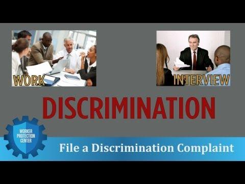Worker Protection Center: File a Discrimination Complaint