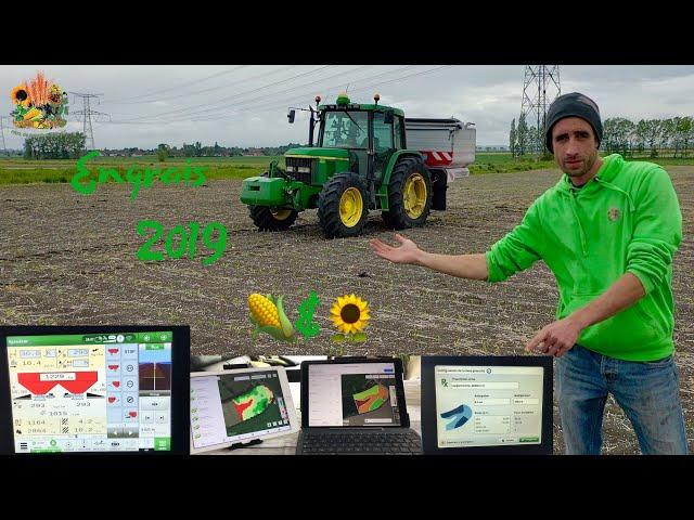 Technologie moderne sur tracteur ancien à l'épandage d'engrais  #97