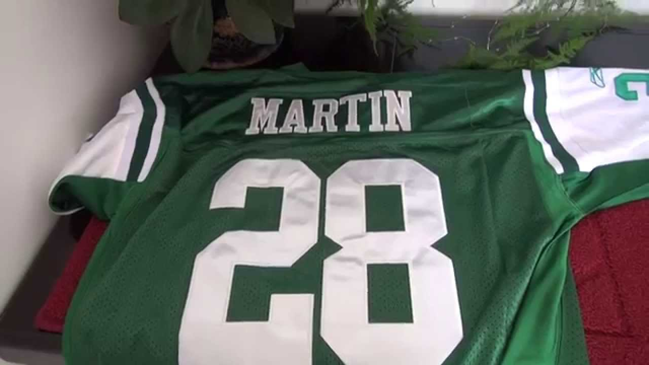 10f1ad42106 Nike New York Jets #28 Curtis Martin Reebok Jerseys - YouTube