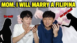 """""""I will Marry a Filipina"""" Korean Mother's Reaction 