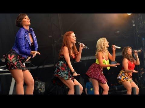 The Saturdays Backstage At Radio 1's Big Weekend