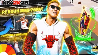WHEEL OF RAREST BUILDS IN NBA 2K20 PART 3!! THIS BUILD CAN LITERALLY DO EVERYTHING AT THE PARK…