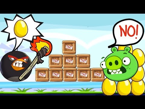Angry Birds Bomb 2 - STOP STEALING GOLDEN EGG PIGGIES - BOMBER BIRD